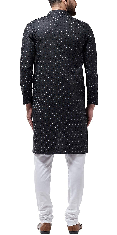 Bollywood-Indian-Kurta-Pajama-Dress-Tunic-Printed-Top-Men-Kurta-Ethnic-Wear thumbnail 4