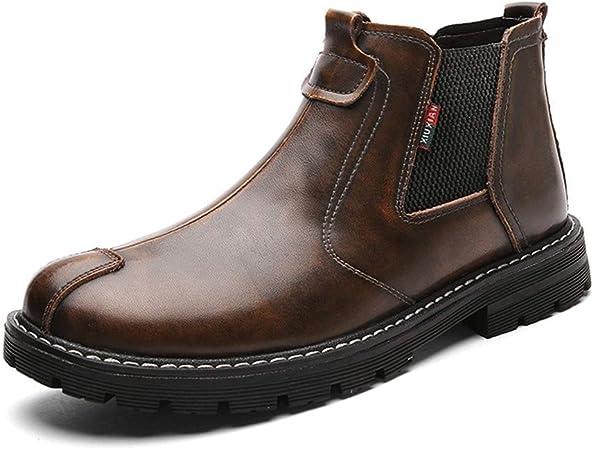 bottines habillées bandes élastiques homme