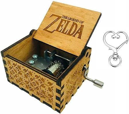 Cuzit The Legend of Zelda - Caja de Música, Diseño de la Película Antigua, Tallada a Mano, Madera: Amazon.es: Hogar