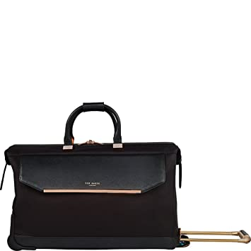 Ted Baker Womens Albany Softside Large Wheeled Trolley Duffel (One Size e241e92e63c09
