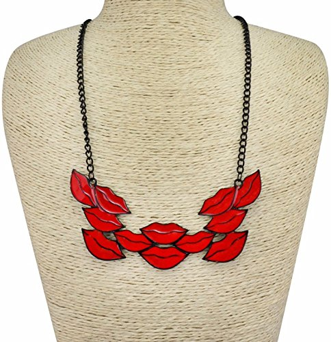 WeShop® - New Personality Exaggerated Lips Long Necklace Red