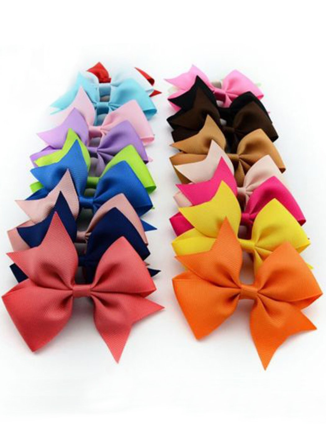 Angoo Beauty 10pcs Girls Ribbon Bow Hair Clip Kids Alligator Clips Party Hair Accessories Facial Hair for Baby Girl Toddlers Kids(Multicolored)