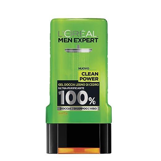 47 opinioni per L'Oréal Paris Men Expert Clean Power Gel Doccia Uomo, Legno di Cedro