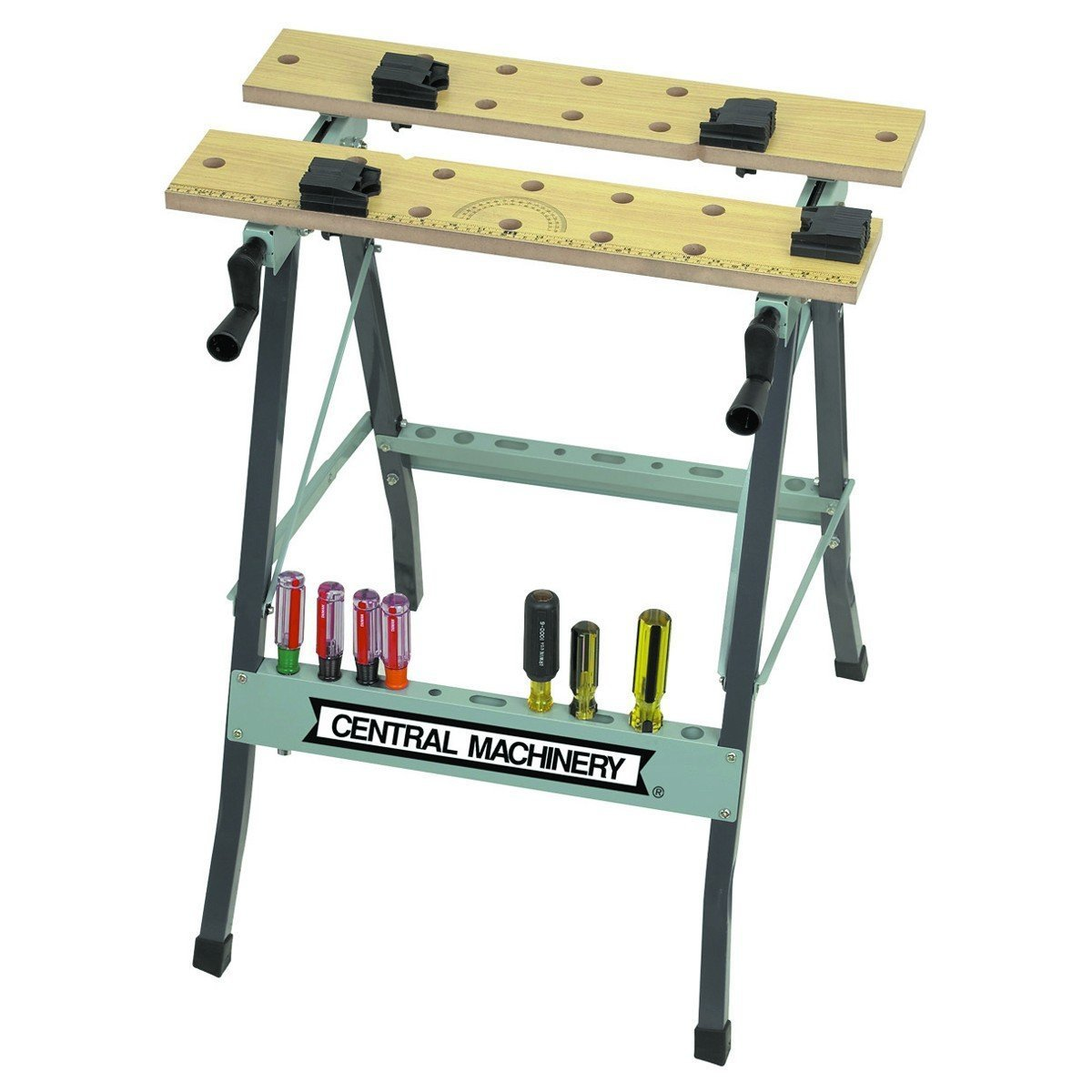 Folding Clamping Workbench with Movable Pegs by US General