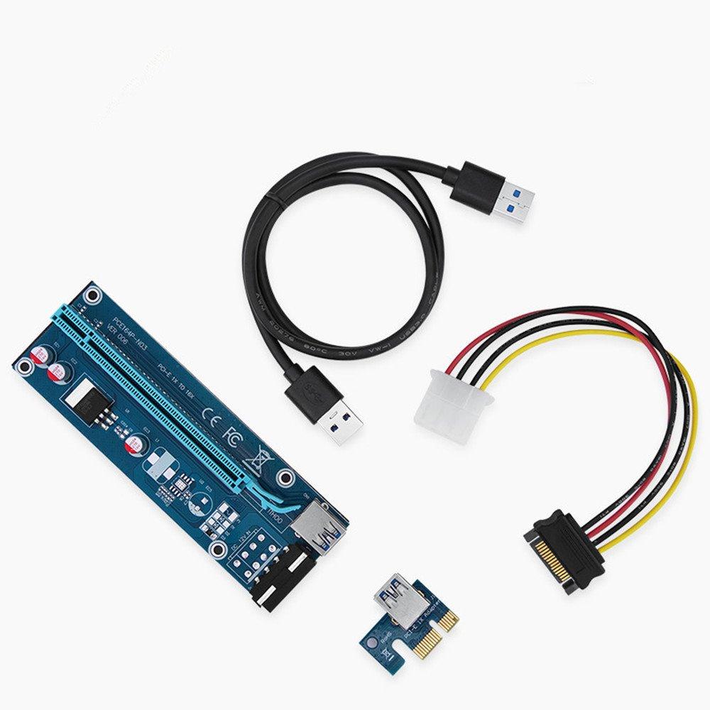 txdqfa PCI-E 16 X a 1 x Tarjeta vertical con adaptador de ...