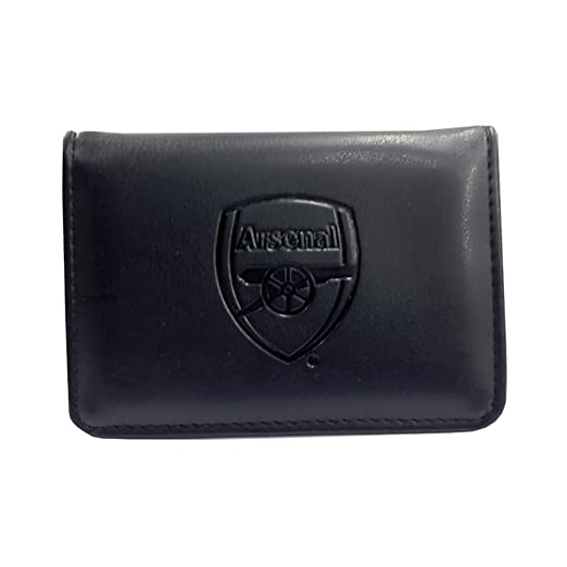 Arsenal FC Authentic EPL Debossed Crest Leather Wallet in Gift Box