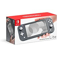 "Newest Nintendo Switch Lite Game Console, Gray, 5.5"" Touchscreen, Built-in Plus Control Pad, W/128GB Micro SD Card, Built-in Speakers, 3.5mm Audio Jack"