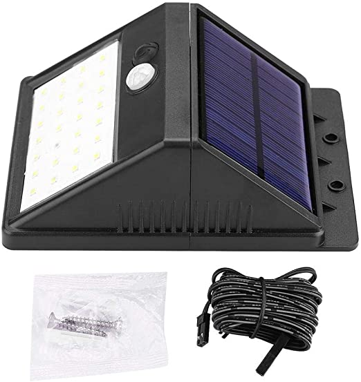 LED lámpara solar exterior jardín, 3 modos desmontable 28 LED Solar lámpara de pared con sensor de movimiento: Amazon.es: Hogar