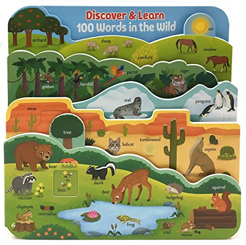 100 Words in the Wild: Interactive Board Book (Discover & Learn) (Animals Wild 100)