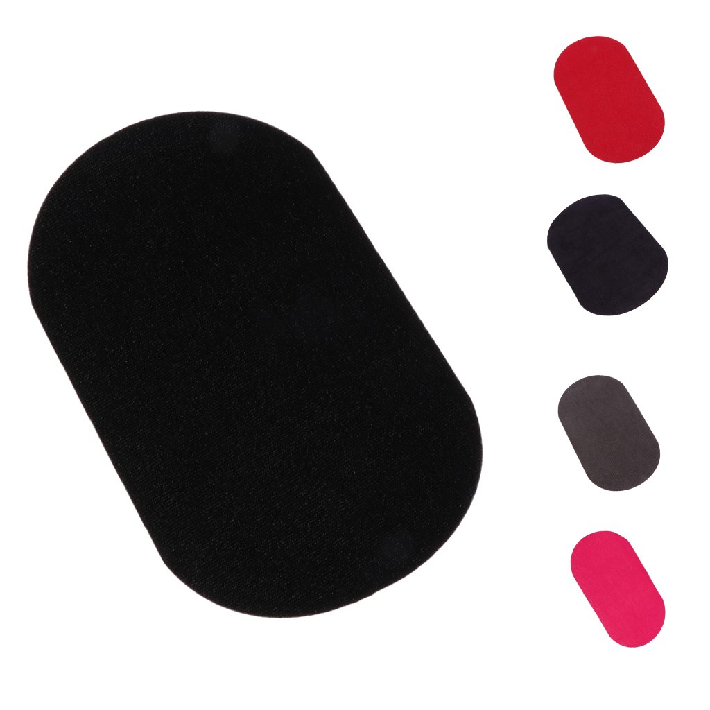 Baoblade Down Jackets Sew Iron-on Hole Repair Patches Waterproof Clothing Oval Mend Black