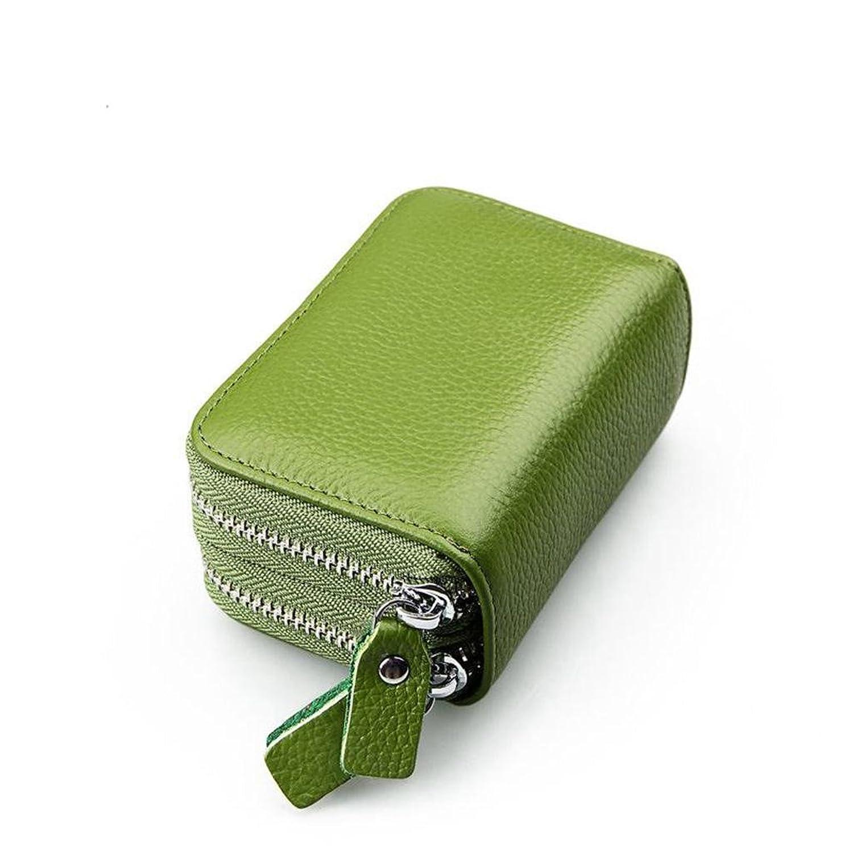 lovelive99 Women's Short Wallet Genuine Leather RFID Blocking Safe Card Holder