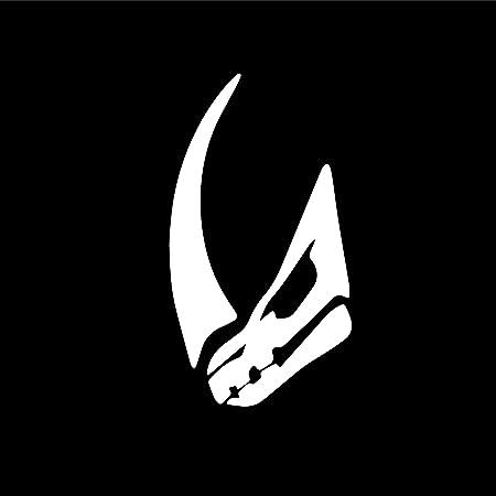 Agl Mandalorian Mudhorn Siegelhorn Weiß Vinyl Aufkleber Weiß 5 5 X 3 In Vans Wänden Laptop Auto Lkw Fenster Stoßstange Helm Küche Haushalt
