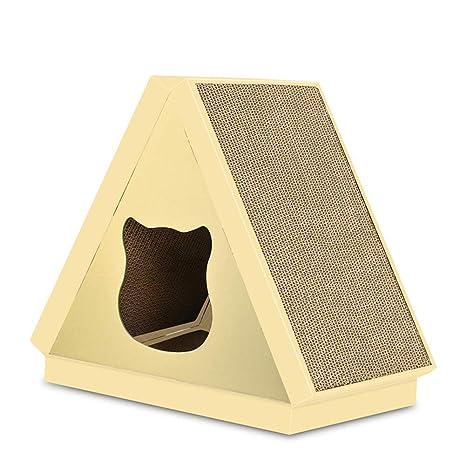 Pet Elf Tabla de rascar de Papel Corrugado para Gatos, triángulo, para casa de