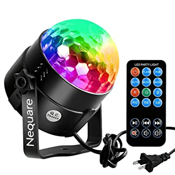 Outdoor Strobe Lights Amazon nequare party lights sound activated disco ball strobe nequare party lights sound activated disco ball strobe light 7 lighting color disco lights with remote workwithnaturefo