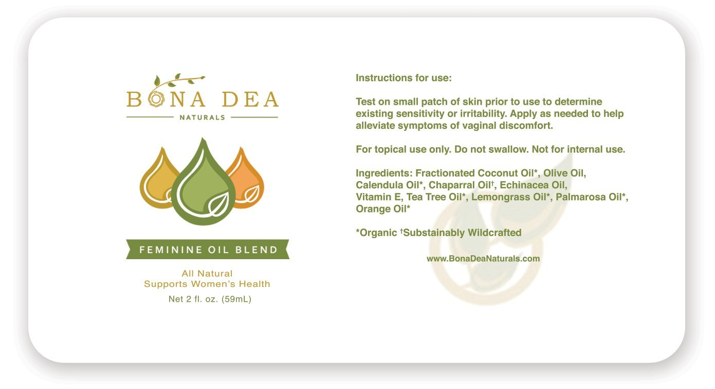 All Natural Feminine Spray | Treats Symptoms of Yeast Infections & BV Fast! | 100% Yoni All-Oil Blend Made with Tea Tree, Calendula, Echinacea, Palmarosa, Orange, Lemongrass Essential Oils by Bona Dea Naturals (Image #2)