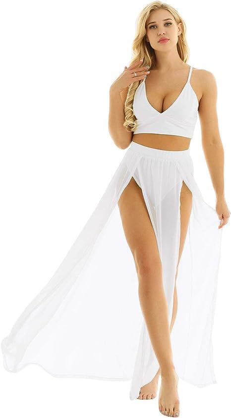 YOOJIA Vestido de Verano para Mujer, para Playa, Fiesta, Bikini ...