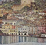 "Malcesine on Lake Garda by Gustav Klimt. Wall Decal - Peel & Stick, Removable (16"" x 16"")"