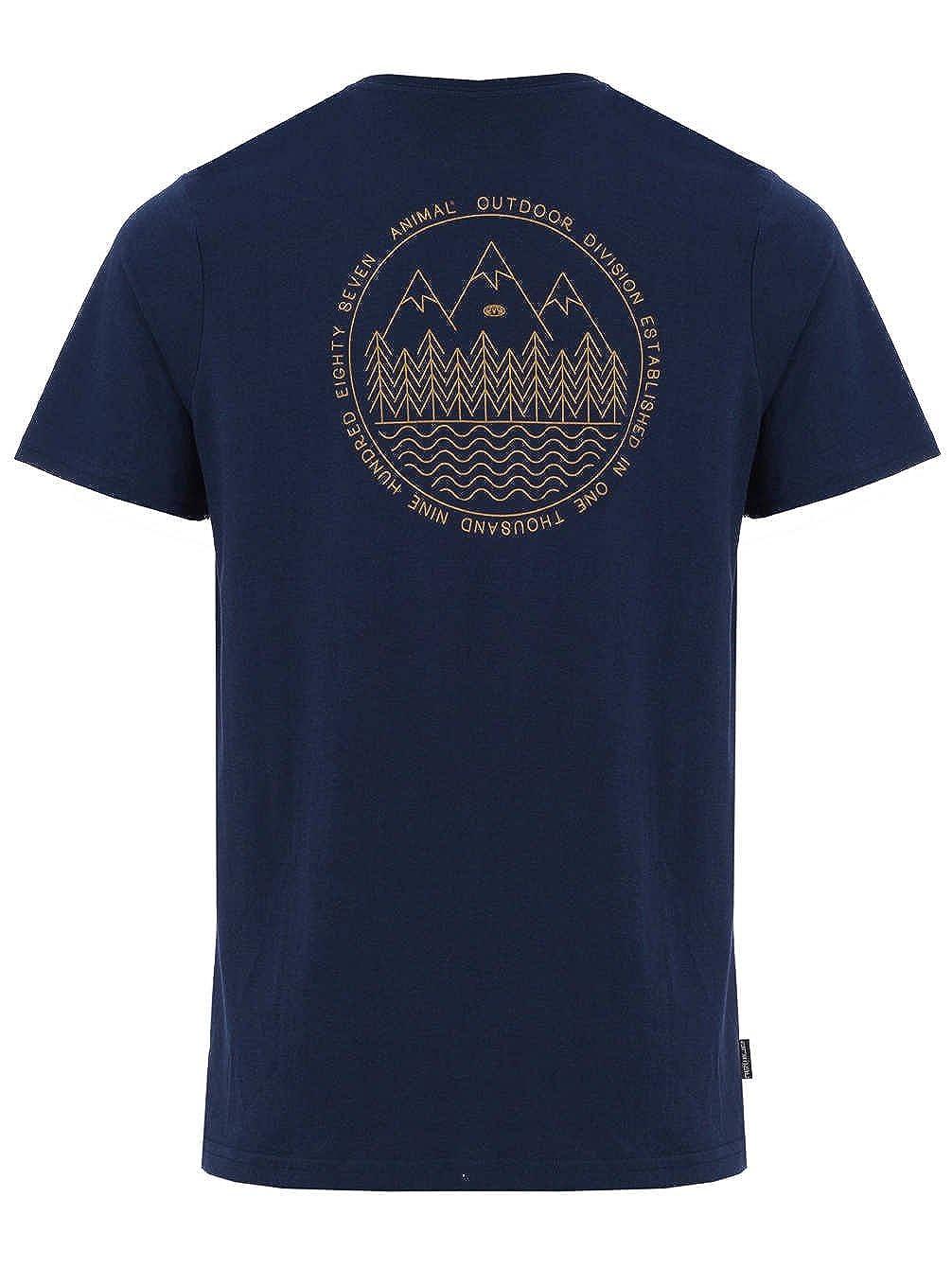 Animal Outdoors Short Sleeve T-Shirt in Dark Navy