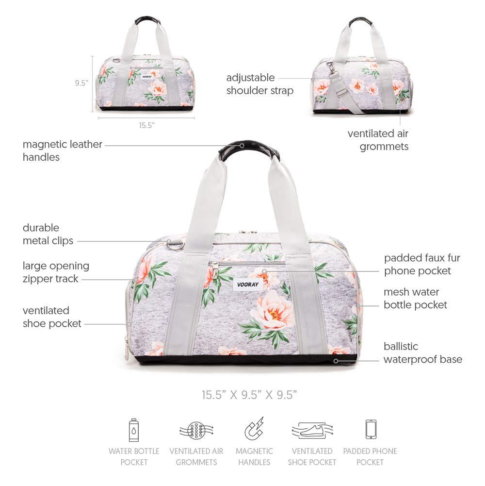 Vooray Burner 16 Compact Gym Bag with Shoe Pocket Camo