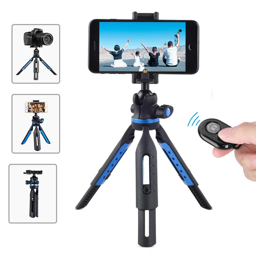 Apexel カメラ三脚 iPhone三脚 ワイヤレスリモートシャッター付き iPhone/Android Samsung デジタル一眼レフカメラ スポーツカメラ GoProに対応   B07M7WD3K5