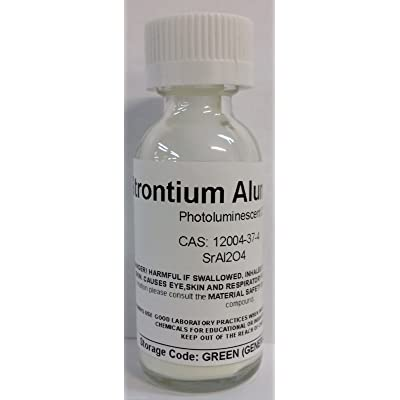 Consolidated Chemical & Solvents Strontium Aluminate 25g, Glass Bottle (Yellow): Toys & Games
