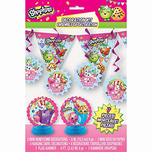 Shopkins Party Decoration Kit, 7pc (Mime Masks For Sale)