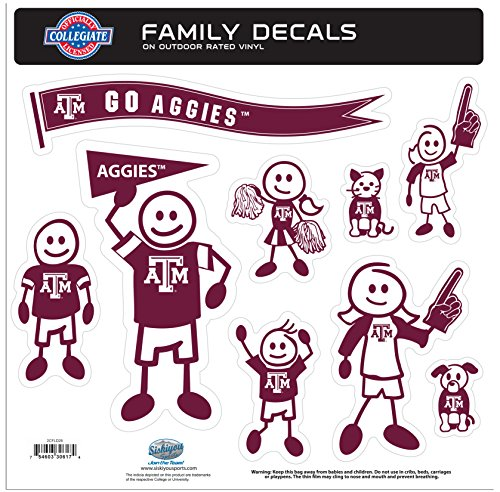NCAA Texas A&M Aggies Family Character Decals, Large by Siskiyou
