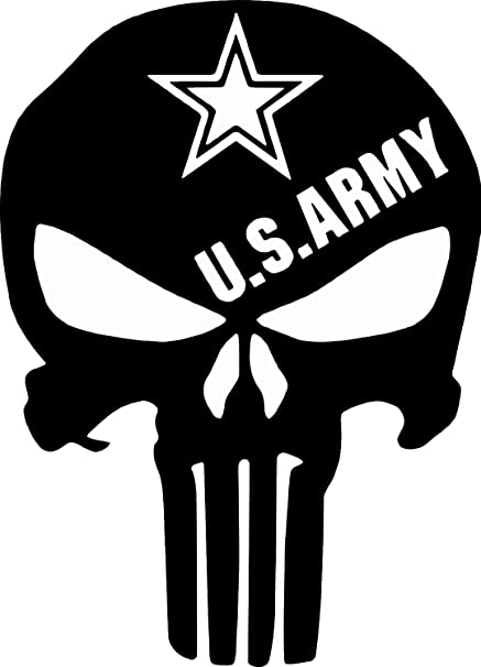 Punisher Skull Window Decal American Flag Vinyl Graphic Military Dodge Ford V2