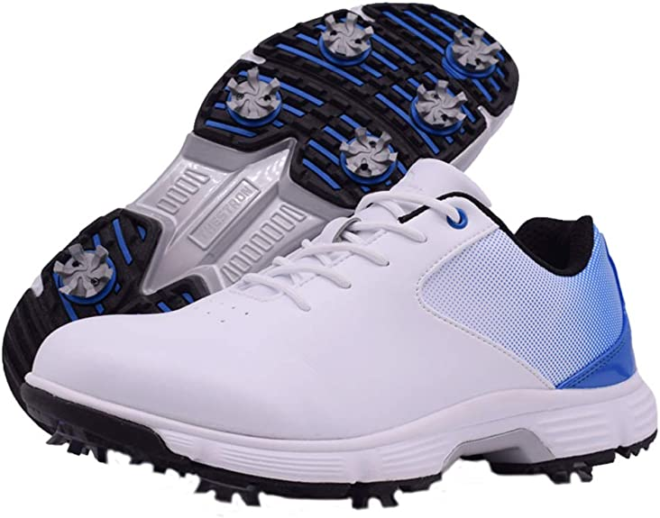 Zakey Waterproof Golf Shoes Men Professional Spikes Golf Sneakers White Outdoor Walking Footwear for Male