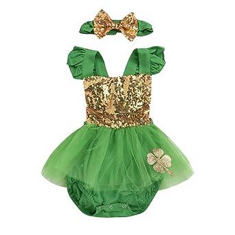 St. Patricks Day - Conjunto de ropa de bebé ZHANSANFM, falda con ...