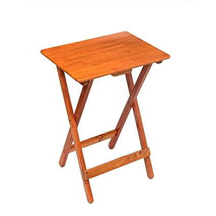 Mesa Cuadrada pequeña Plegable Mesa Infantil portátil Mesita de Noche Simple de Pino Mesita de jardín