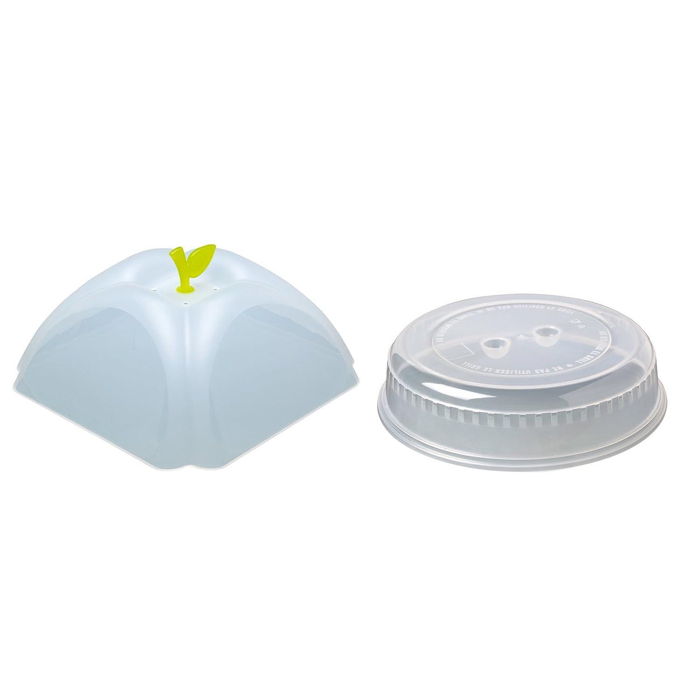 2er-Set Mikrowellenhaube Mikrowellenabdeckhaube Tellerabdeckung mit ca. 26 cm und ca. 25 cm für die Mikrowelle mit Variante hoch. Beide Mikrowellendeckel sind BPA-frei (TransparentGruen) Talleres