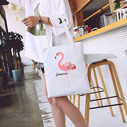Voyage de Noir Shopping white Nylon Pochettes Febbya Main Moyen pour Femme Courses Black Imperméables Cabas Sacs à Plage Pliable FZnpnWHO