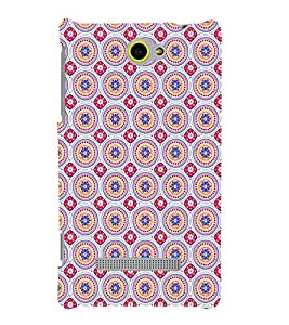 Fuson Premium Designer Sphericals Printed Hard Plastic Back Case Cover for HTC Windows Phone 8S
