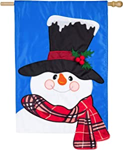 Evergreen Flag Beautiful Christmas Baby It's Cold Outside Snowman Applique House Flag - 28 x 44 Inches Fade and Weather Resistant Outdoor Decoration for Homes, Yards and Gardens
