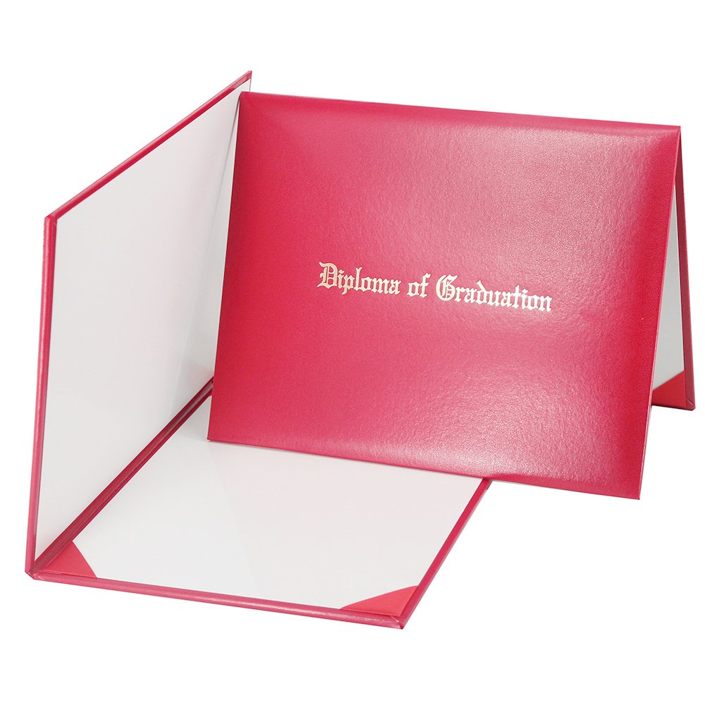 GraduationMall Imprinted Diploma Cover Red 8 1/2