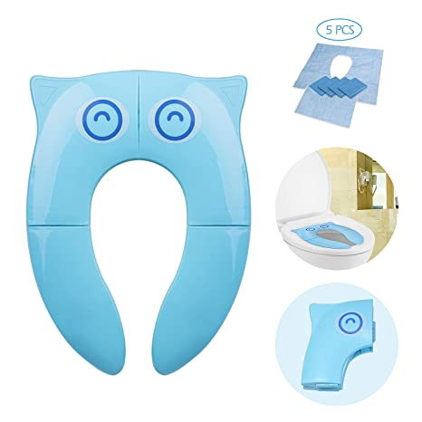 Asiento de Inodoro Reductor Plegable para Bebés – Momcozy Tapa WC Orinal para Bebés – con