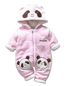 a537c6c507ecd Happy Cherry Combinaison Pilote Bébé Fille Garçon Habit de Neige Panda  Enfant Manteau Polaire Oreille Chaud