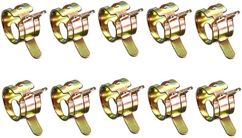 GOOTRADES 10 St/ücke 8mm Federband Typ Kraftstoff Vakuumschlauch Silikon Rohrklemme Clip Rohr Schellen Kraftstoffleitung Schlauchschellen Wasserrohr Luftschlauch Vakuum Schlauchschelle