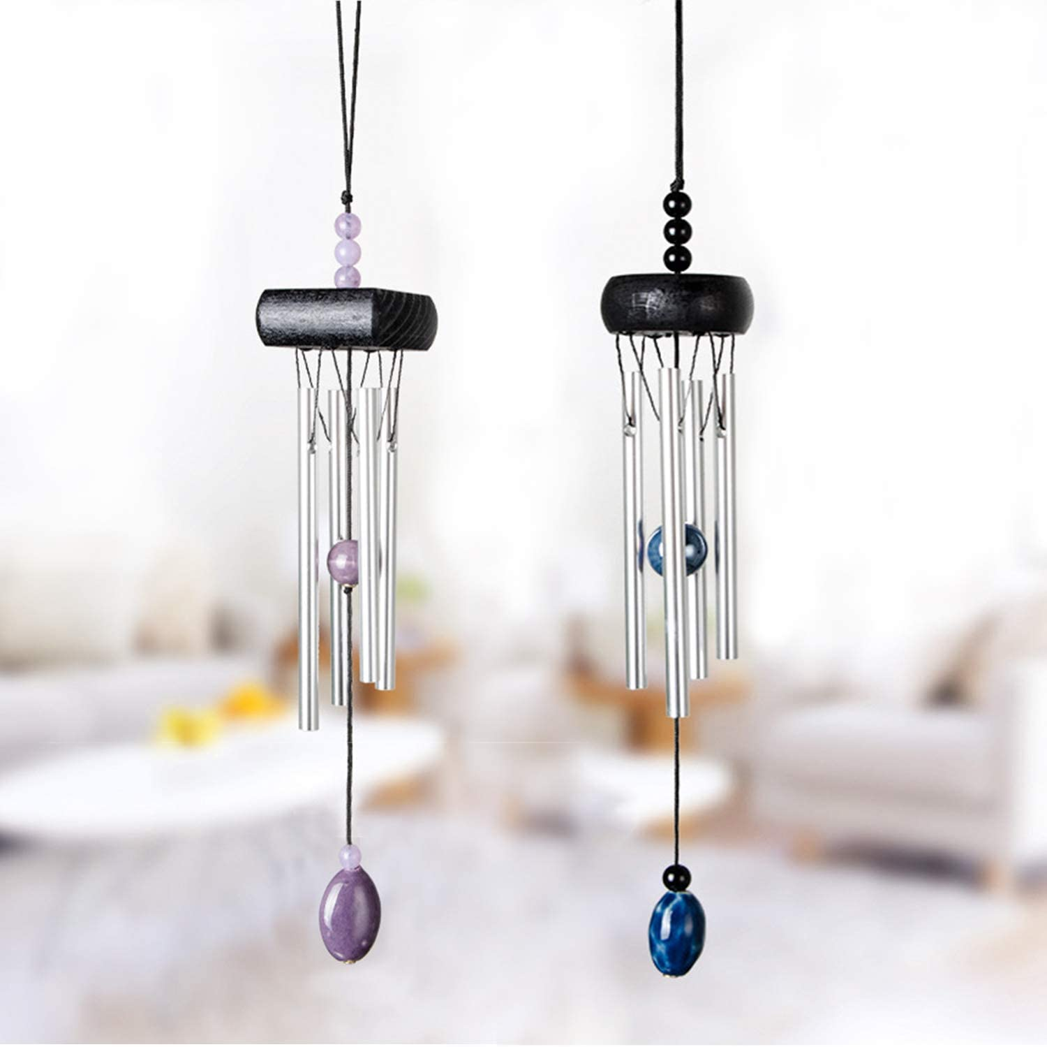 UNIME Wind Chimes, Creative Design 2 Pack Beautiful Garden Chimes, Portable Metal Wind Chimes for Home Garden Decoration, Small Size