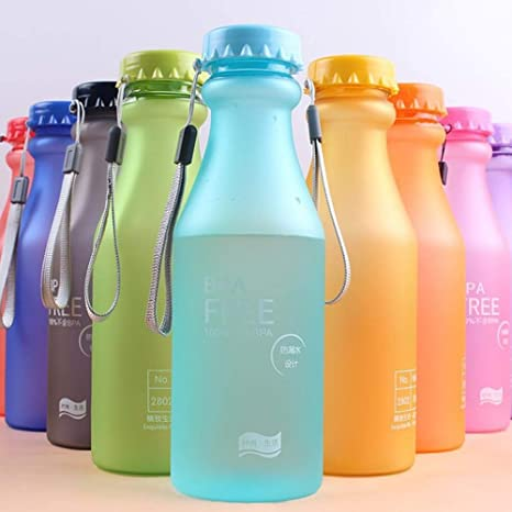 Fasteer Botella de Agua Deporte 550ml, Eco-Friendly de plastico - sin BPA,