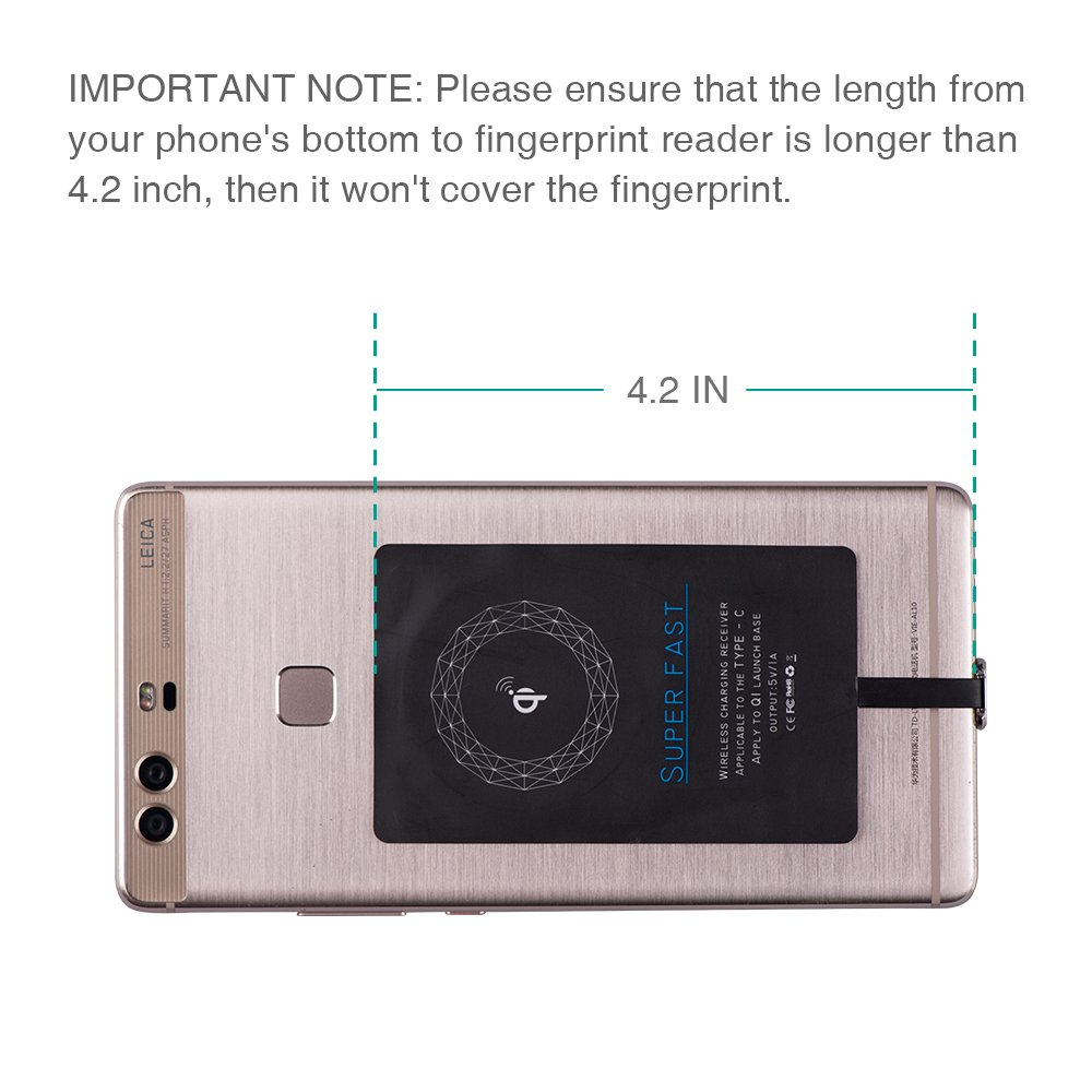 Amazon.com: Tipo C carga inalámbrica Receptor, chgeek USB C ...