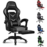ALFORDSON Gaming Chair Racing Chair Executive Sport Office Chair with Footrest PU Leather Armrest Lumbar Cushion Home…