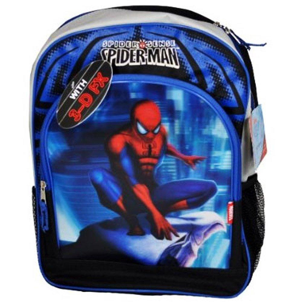 Fab Starpoint Marvel The Amazingスパイダーマンブラックカラーバックパック/スクールバッグwith 2コンパートメント、2サイドアクセサリーポケットと調節可能なパッド入り肩ストラップ(寸法: 16