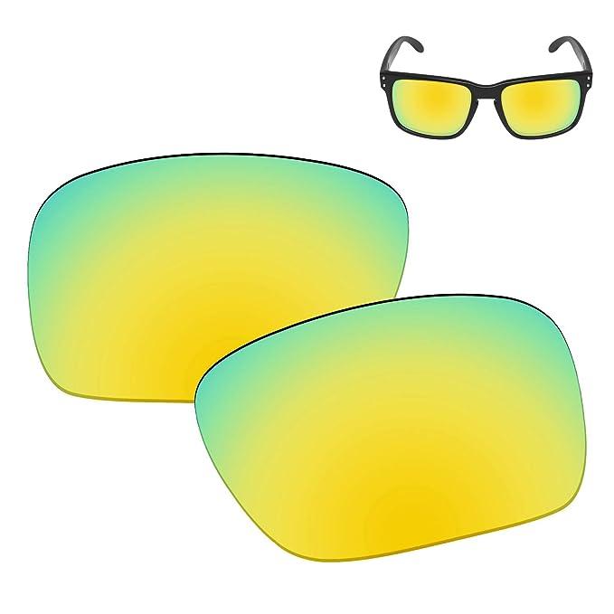 ba69fee158 Galvanic Replacement Lenses for Oakley Holbrook Sunglasses - 24k Polarized