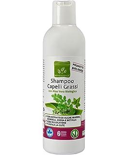 CHAMPÚ PELO GRASO - CON ALOE VERA ORGANICA 250 ml