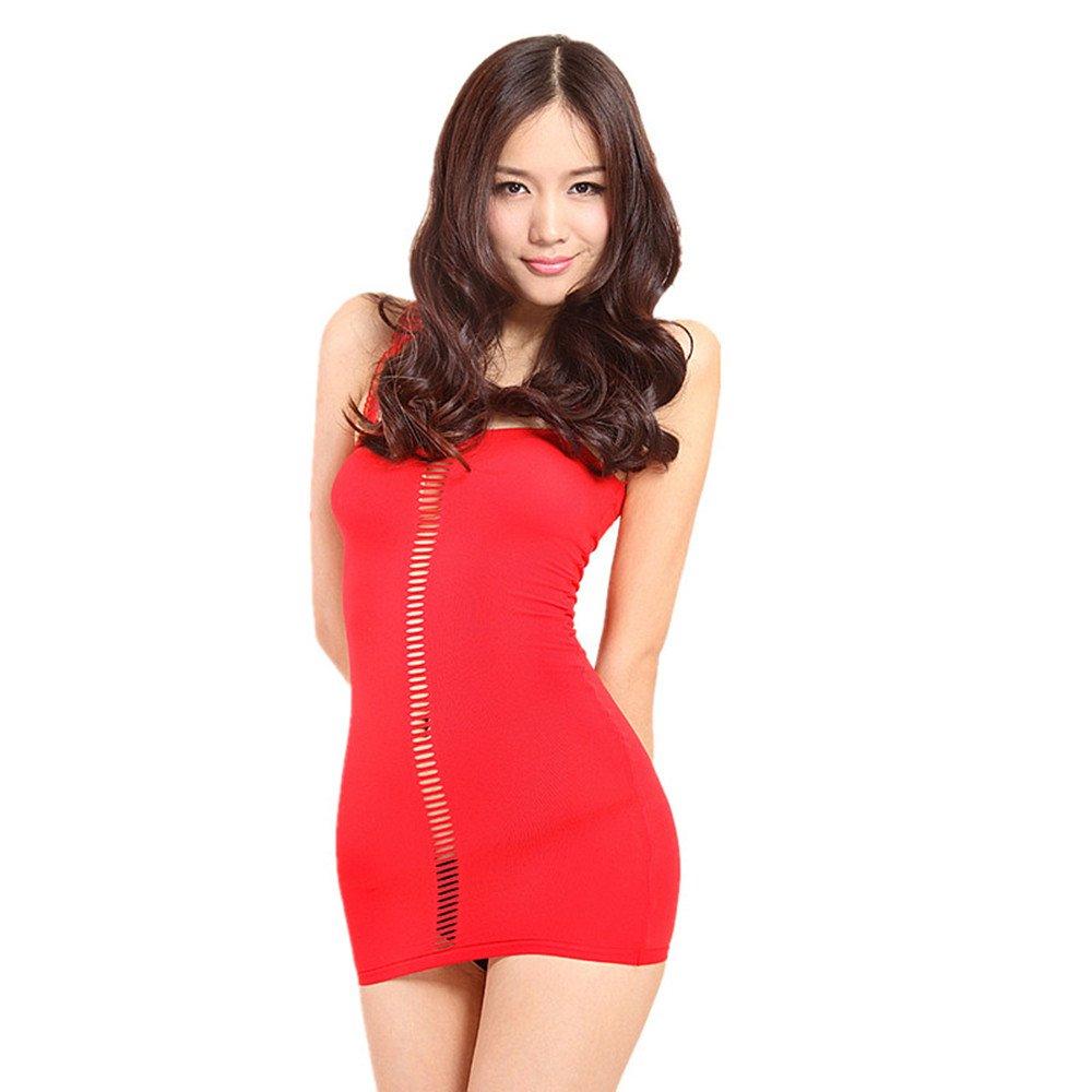 Selebritee Women Neon Queen Tube Dress Mesh Chemise Bodysuit Babydoll Lingerie s-231-w