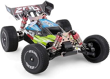 MODELTRONIC Coche RC Profesional Buggy Wltoys XKS 144001 tracción 4X4 Emisora con Display LCD Escala 1:14 Alta Velocidad de 60km/h con Motor 550 con BATERÍA Extra (Verde): Amazon.es: Juguetes y juegos