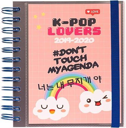Agenda escolar 2019/2020 día página M K Pop: Amazon.es: Oficina y ...