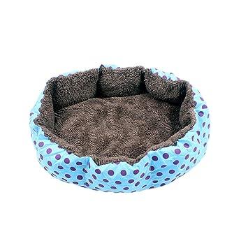 POPETPOP Cojín para Mascotas, Sofá Cama de Perro, Cojín de Sofá Extraíble y Lavable para Cachorro Gatito Animales Pequeños - Talla L (Azul): Amazon.es: ...